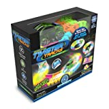 Mindscope Twister Tracks Neon Glow in the Dark 221 Piece (11 feet) of Flexible Assembly Track Race Series (Color: Multicoloured, Tamaño: Medium)