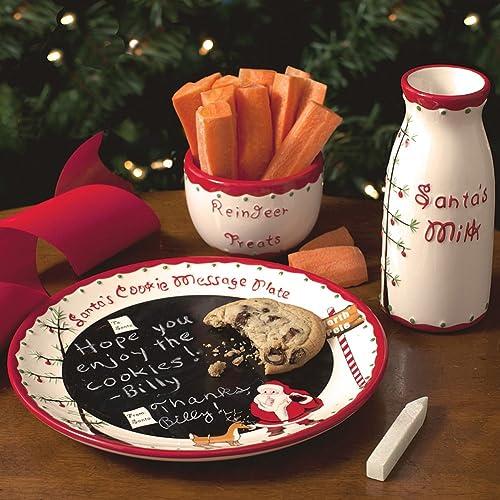 Child to Cherish Santas Message Plate Set