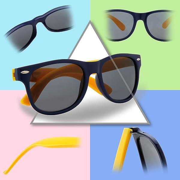a3c372c960 RIVBOS GAFAS DE SOL POLARIZADAS PARA NIÑOS - de caucho con gafas de correa  Sombras para niños, niñas ...