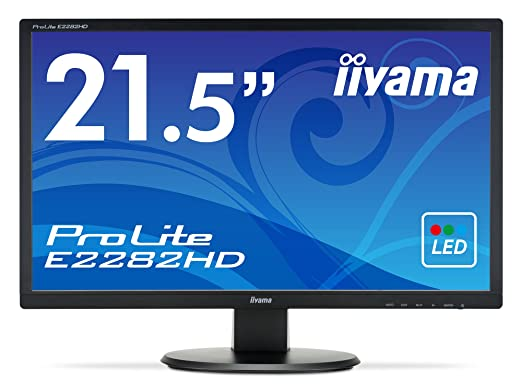 "Iiyama E2282HDB1 Ecran PC LED 21,5"" 1920 x 1080 5 ms VGA/DVI"