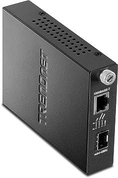 TRENDnet TFC-1000MGB Convertisseur média 1000 Mbps Noir