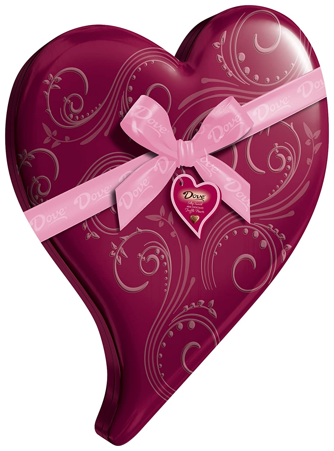 Dove Valentine's Truffle Hearts, Milk Chocolate, 6.5-Ounce Heart Tin