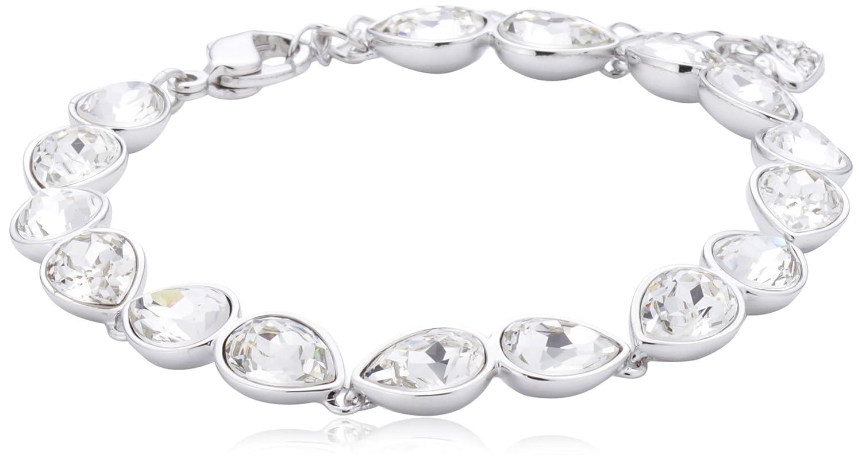 Swarovski Damen Armband Metall Talesia Kristall rhodiniert 17 cm weiß, 1178116