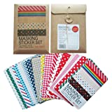 Masking Sticker Set, 27-Sheet,  3.9 by 2.5 inch (Color: mul ti, Tamaño: F ree)