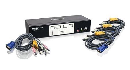 IOGEAR 4 Ports Kvmp switch USB 2,0Hub 2,1 Stereo, GCS1804 (2,1 Stereo)