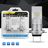 DWVO H7 LED Fog Light Bulbs - 6000K White High Power Waterproof LED DRL Bulbs for Fog Light and Daytime Running Light Replacement (Pack of 2) (Tamaño: H7)