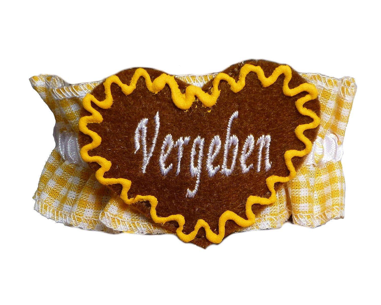 Knöchelband Tracht Gelb kariert mit Namen – INDIVIDUELL BESTICKT – Fußband Oktoberfest Bayern günstig online kaufen