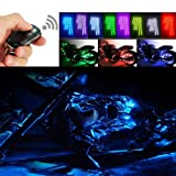 VK-SYTEC Motorcycle Water-Proof 96 LED Light Strips Multi-Color Accent Glow Lights with Remote Controller (Pack of 8) (Color: 8 Strips Led)