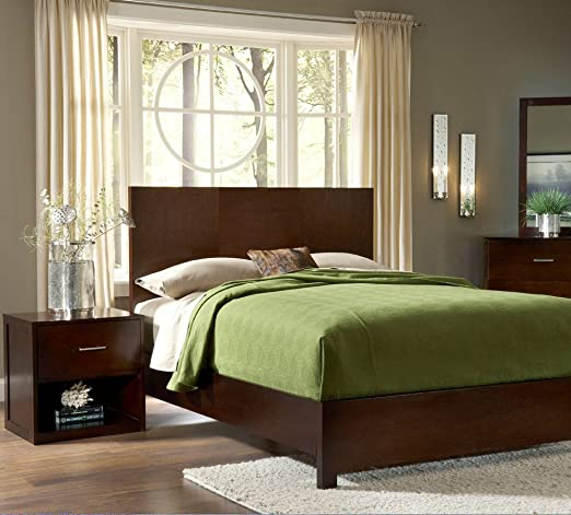 Modus Modera 2 Piece Panel Bedroom Set in Chocolate Brown