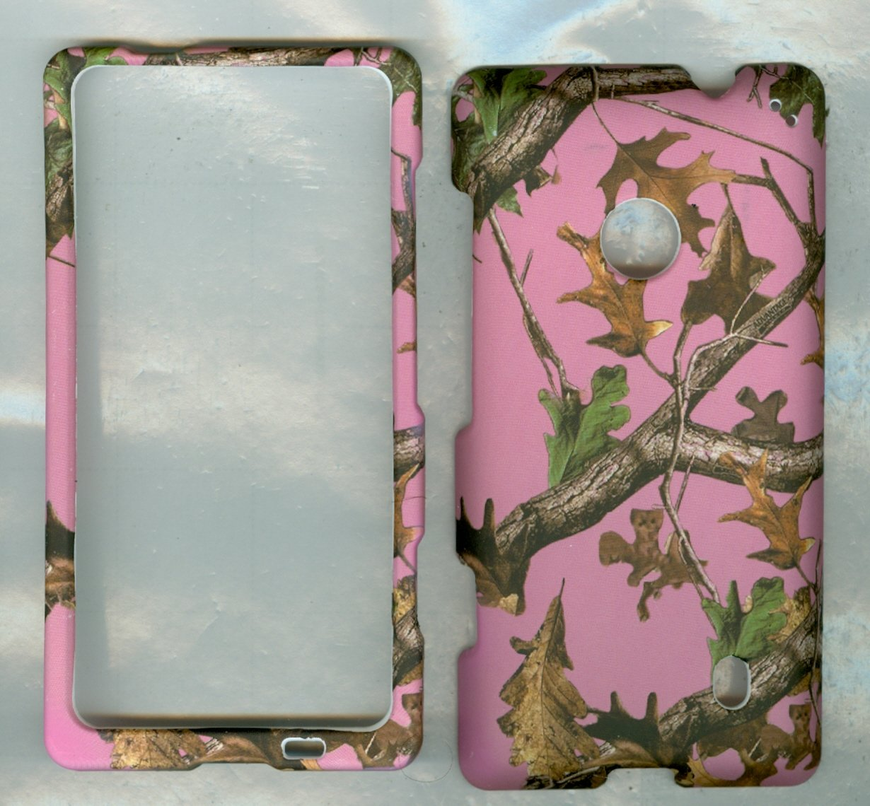 NOKIA-LUMIA-521-520-T-MOBILE-AT-T-METRO-PCS-PHONE-CASE-COVER-FACEPLATE-PROTECTOR-HARD-RUBBERIZED-SNAP-ON-CAMO-PINK-ADVANTAGE-TREE-HUNTER-NEW