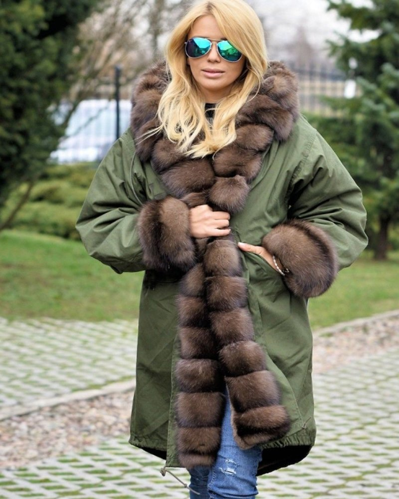 Roiii Ladies Quilted Casual Vintage Faux Fur Collar Warm Thick Womens Jacket Coat 5