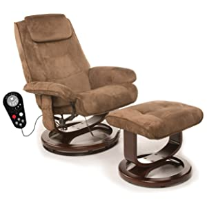 Comfort Products 60-078011 Deluxe Leisure Recliner Chair with 8-Motor Massage & Heat