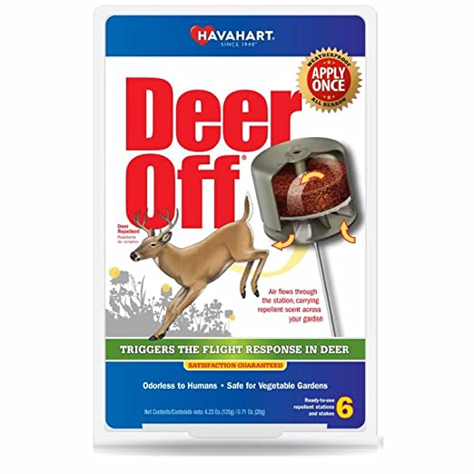 Havahart DO5600-6 Deer Off Weatherproof Deer Repellent, 6-Pack