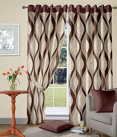 Buy Super India Jute Long Door Curtains (Set of 2)- 9 Feet x 4 ...