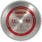 Oshlun SBNF-120080 12-Inch 80 Tooth TCG Saw Blade with 1-Inch Arbor for Aluminum and Non Ferrous Metals (Tamaño: 80 Tooth)