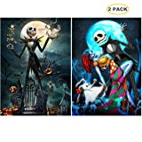 5D Full Drill Diamond Painting Kit, Hartop DIY Diamond Rhinestone Painting Kits for Adults and Beginner, Embroidery Arts Craft Home Office Decor (2 Pack of Halloween Skull) (Color: 2 pack of Halloween Skull)