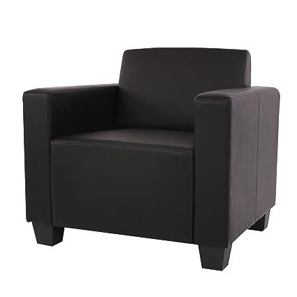 Sessel Loungesessel Lyon, Kunstleder ~ schwarz