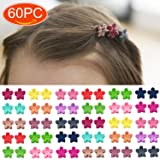 Elesa Miracle 60pcs Women Girl Kids Mini Hair Claw Clips Flower Hair Bangs Pin Kids Hair Accessories Clips (Color: Pink, Green, Blue, Hot pink, Red, Yellow, Gray, Multicolor, Tamaño: One Size)