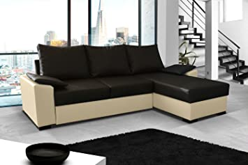Ecksofa Lusso Eckcouch Sofa Couch mit Bettfunktion 01549