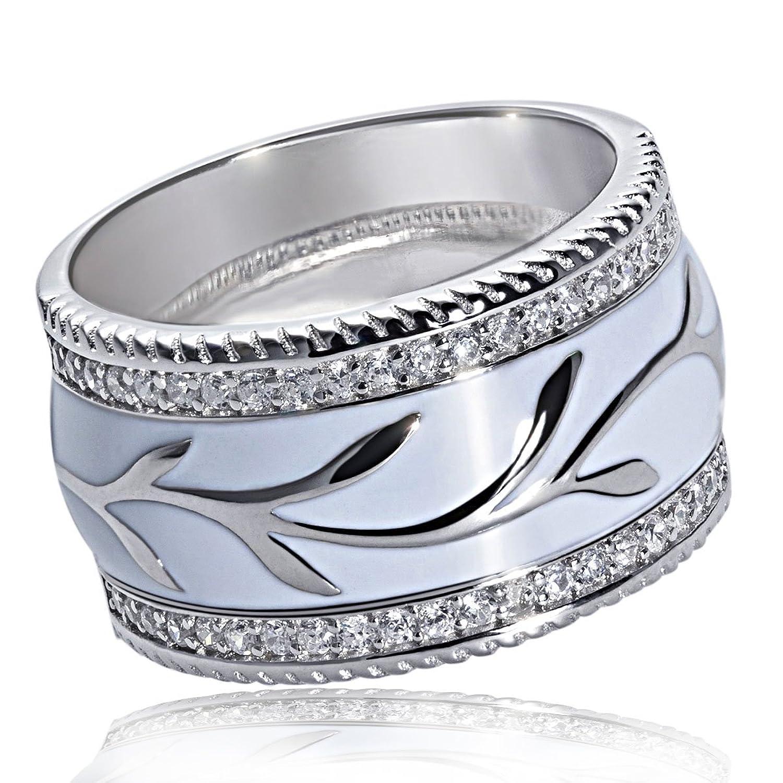 Goldmaid Damen-Ring White Lack 925 Sterlingsilber 54 klare Zirkonia Fa R5919S bestellen