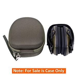 LTGEM Hard Case for Walker's Razor Slim Electronic Hearing Protection Muffs or Howard Leight Impact Sport Electronic Shooting Earmuff (Color: Case 2)