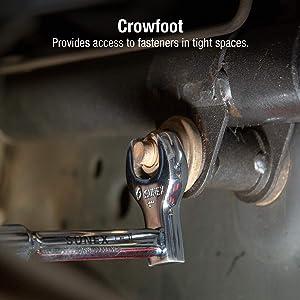 Sunex 9720A 7 Piece 1/2 Dr. Jumbo SAE Crowfoot Wrench Set CRV (Tamaño: SAE)