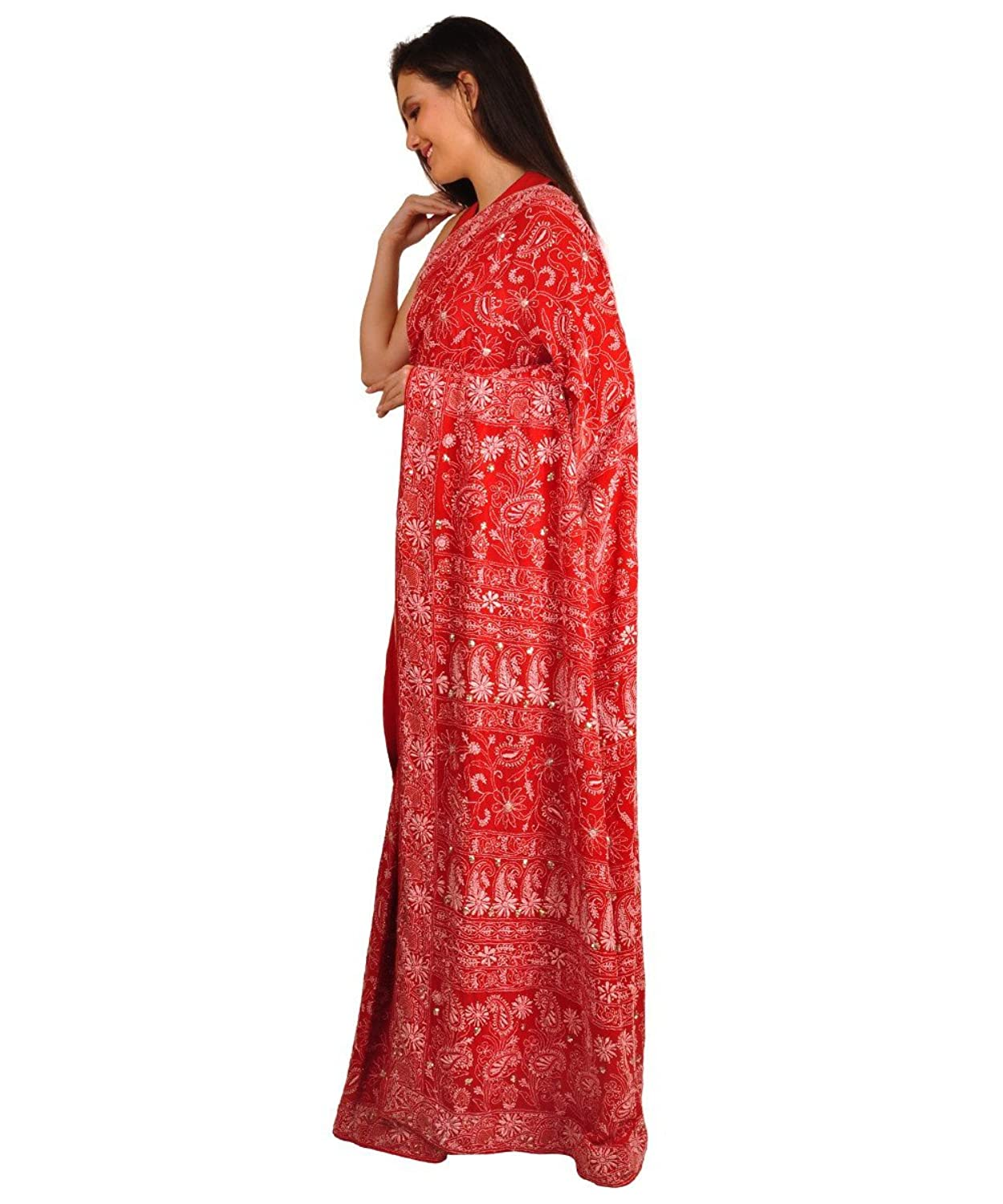 Talking ThreadsGeorgette Chikankari Embroidered Saree available at Amazon for Rs.42000