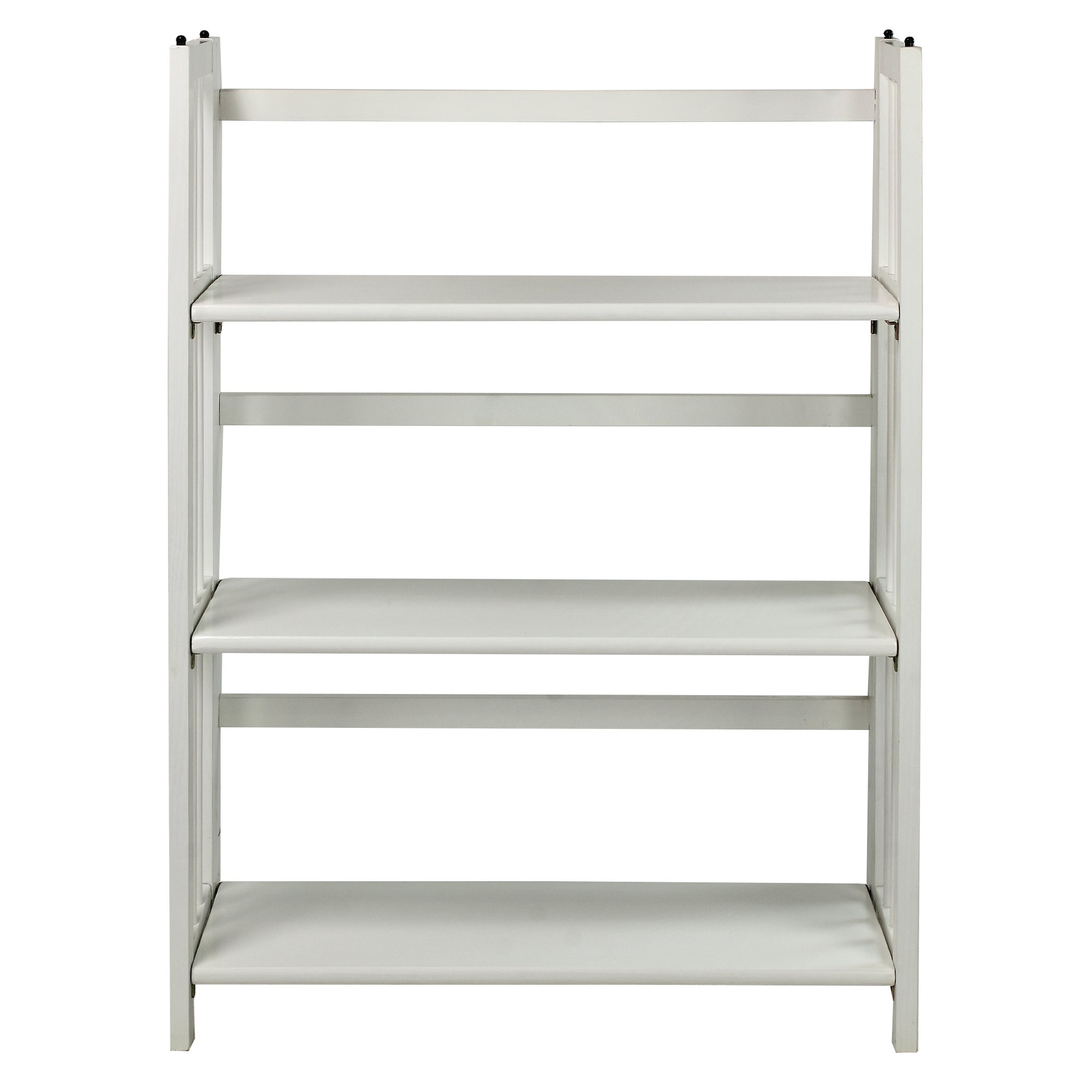 casual home 3 shelf folding stackable bookcase white white. Black Bedroom Furniture Sets. Home Design Ideas