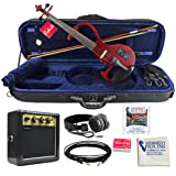 Bunnel EDGE Electric Violin Outfit Rock Star Red Amp Included