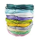 Inspirelle 10-Color 1.8mm Satin Nylon Trim Cord Rattail Silk Cord Chinese Knot Thread for Jewelry Making (10 Yards Each Color, Light Colors) (Color: Light, Tamaño: 1.8mm)