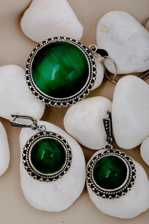 Schmuck Set handmade Designer Accessoires lange Ohrringe Schmuck Kettenanhänger jetzt kaufen