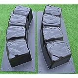 Betonex 2 MOLDS 47.2 inch ROUND EDGE STONE CONCRETE MOLD Edging Border ABS Plastic #BR04
