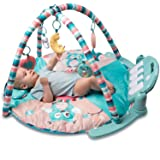 Tapiona Large Baby Play Mat - Kick And Play Piano Gym - Newborn Toy For Baby Girl And Boy, 0 - 36 Month (0 - 3 years) - 5 Activity Toys, Piano, Flashing Moon, Cushion