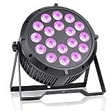 BETOPPER RGBW Par Lights, 18 LEDs 180 Watt DJ Par Lighting Sound Activated, DMX Professional for Stage Wedding Preforming event (Color: Black 1, Tamaño: Medium)