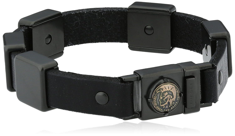 Diesel Herren-Armband Edelstahl Leder DX0813060 günstig online kaufen
