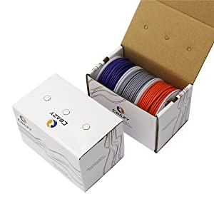 CBAZYTM Hook up Wire (Stranded Wire) 24 Gauge 1007 24AWG 35M (114 Feet) PVC Electrical Copper Wire Grey+Purple+Orange (Color: A-(Grey+Purple+Orange), Tamaño: 24AWG)