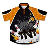 ScudoPro TNT Strikes Bowling Jersey - Size 4XL (Color: multi, Tamaño: XXXX-Large)