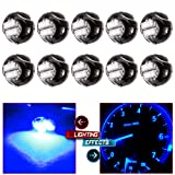 cciyu 10 Pack Blue T3 2-3014 SMD Neo Wedge 35852-SEP-A02 A/C Climate Control LED Light Bulbs (blue) (Color: Blue)