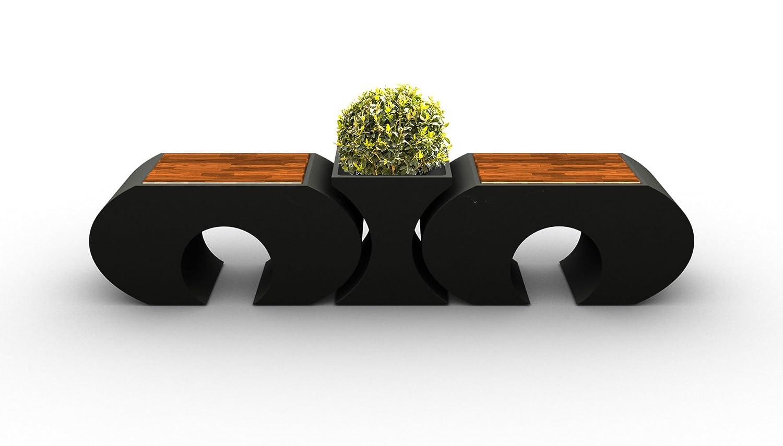 ORIGINAL LAGRINO Sitzgarnitur in HOCHGLANZ SCHWARZ – 2 HOCKER + 1 VASE WITTERUNGSBESTÄNDIG – online bestellen