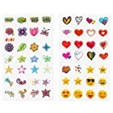 Polaroid Deluxe 50+ Sticker Set - Personalize & Decorate Your Instant Camera, Instant Printer & Other Devices with Fun Shapes, Cute Emojis & Trendy Designs (Tamaño: Camera Sticker)