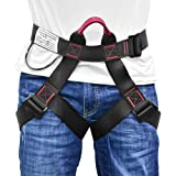 MelkTemn Climbing Harness, Rock Climbing Harness Protect Waist Safety Harness, Wider Half Body Harness for Mountaineering Fire Rescuing Rock Climbing Rappelling Tree Climbing (Climbing Harness.) (Color: Climbing Harness.)