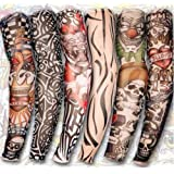Yariew 6pcs Temporary Tattoo Sleeves, 6pcs Set Arts Temporary Fake Slip On Tattoo Arm Sleeves Kit Style 1 (Color: Color 1, Tamaño: 18 x 4 cm)