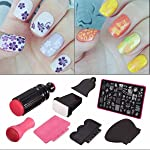 DANCINGNAIL Beauty Lady Nail Art Scraper Stamping Manicure Polish Plate Double Ended Stamper Image Tool Kit Set And Nail Plate