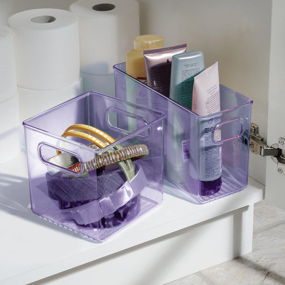 10x4x6in organizer bin basket storage box plastic home for Bathroom accessories organizer