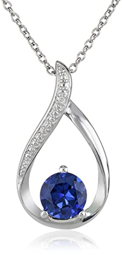 Sterling-Silver-Created-Sapphire-and-Diamond-Accented-Pendant-Necklace-18-