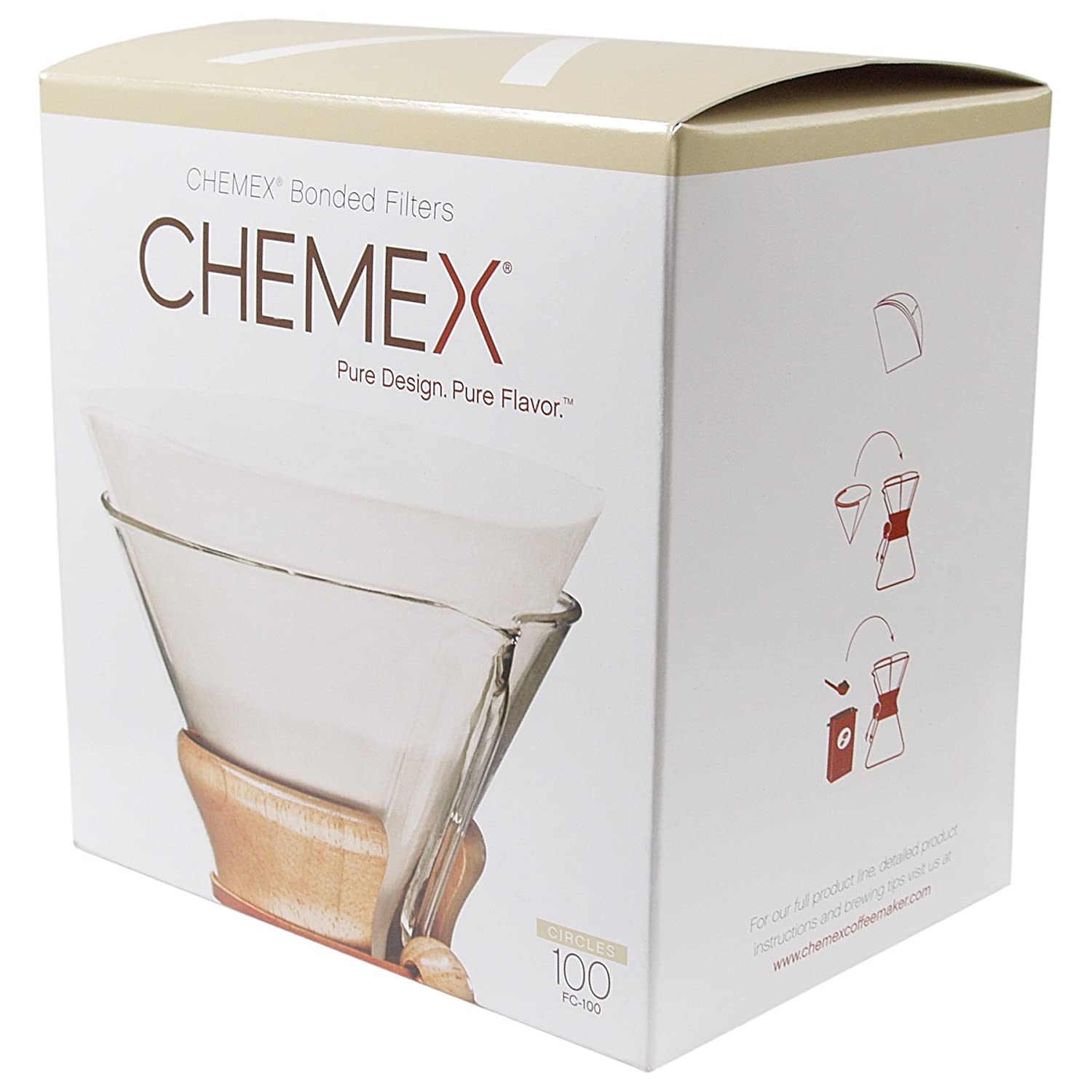 Best Coffee Maker With Paper Filter : Chemex Coffee Maker Filter Papers, Pack of 100 eBay