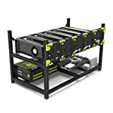 6GPU Mining rig Aluminum Stackable Mining Case Rig Open Air Frame For Ethereum(ETH)/ETC/ ZCash/Monero/BTC Excellent air convection design