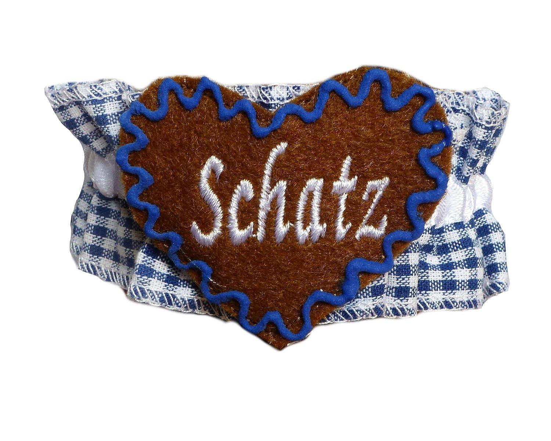 Knöchelband Tracht Blau kariert mit Namen – INDIVIDUELL BESTICKT – Fußband Oktoberfest Bayern jetzt kaufen