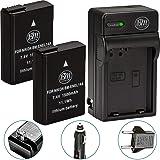 BM Premium Pack of 2 EN-EL14A Batteries and Charger for Nikon D3100, D3200, D3300, D3400, D3500, D5100, D5200, D5300, D5500, D5600, DF, Coolpix P7000, P7100, P7700 Digital SLR Cameras (Color: 2 EN-EL14A Batteries & Charger, Tamaño: 2 Batteries + Single Charger)
