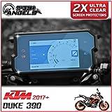 2 x KTM Duke 390 (2017>) Dashboard / Instrument Cluster screen protector - Ultra-Clear